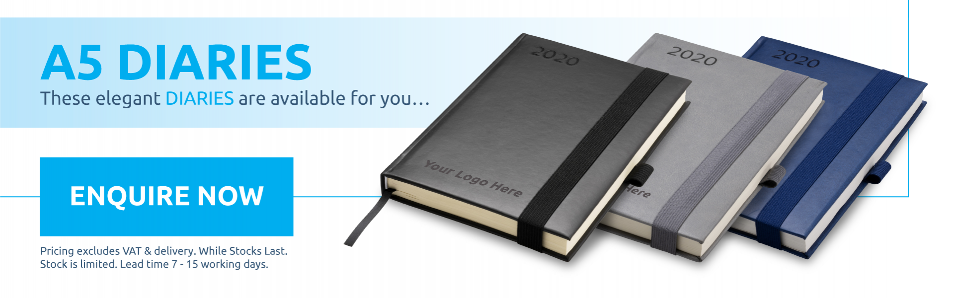 A5 Diaries Available!